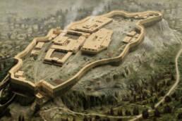 Acropoli di Atene volo d'uccello (1200 a.C.)