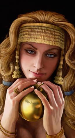 Afrodite e la mela d'oro (Kαλλίστῃ)