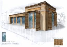 Al Ain Oasis - Concept sketches for retail and F&B