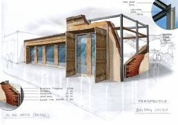 Al Ain Oasis - Concept sketches for retail and F&B (details)