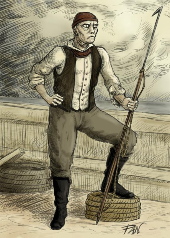 Baleniere con arpione (James Bartley)