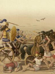 Battaglia epica scontro tra Achei e Troiani