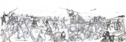 Battaglia epica scontro tra Achei e Troiani (bozza)