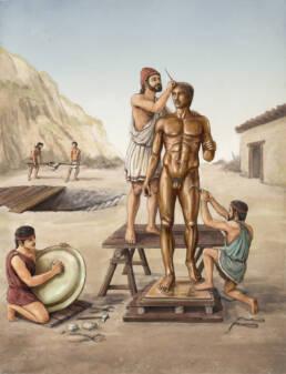 Bottega del bronzista greco