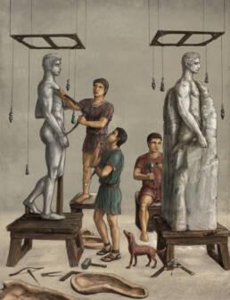 Bottega dello scultore romano