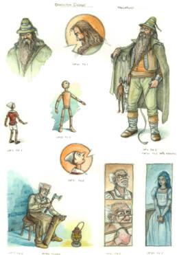 Character Design e Illustrazioni per Pinocchio
