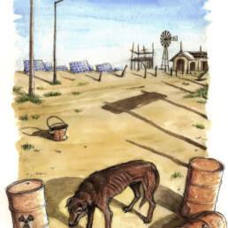 Città deserta post apocalittica