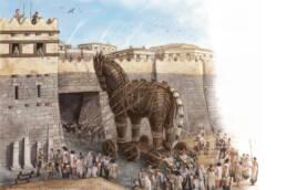Scena ingresso del Cavallo a Troia