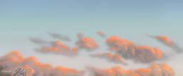 Nuvole con colore del tramonto