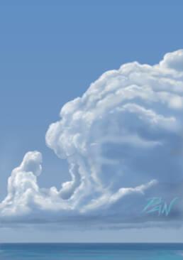 Nuvole scena diurna con il mare
