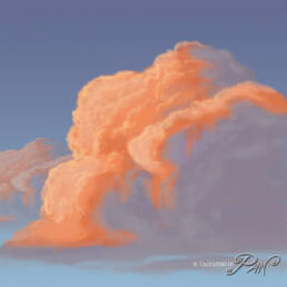 Nuvole al tramonto per il tutorial (completa)