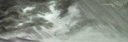 Nuvole di tempesta con pioggia