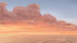 Nuvole e mare al tramonto