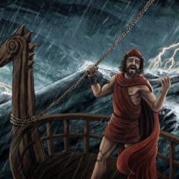 Odisseo nella tempesta