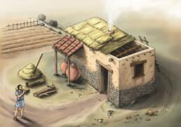 Ricostruzione tipica fattoria Brettia