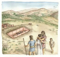 Scena di sepoltura dalla necropoli di Treselle