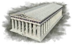 Partenone dal pannello del Museo Gregoriano Profano