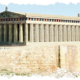 Vista Partenone nord-ovest