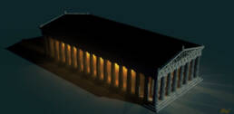 Partenone notturno