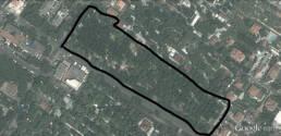 Pianta progetto da Google Earth