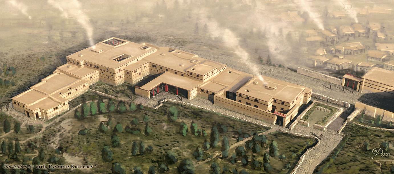 Ricostruzione Haghia Triada Villa (Rendering)