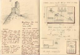 Ricostruzione cassero medievale di Montecastrese (taccuino appunti 03)