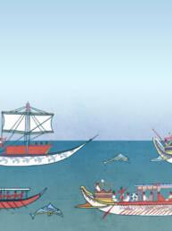 Scena imbarcazioni minoiche
