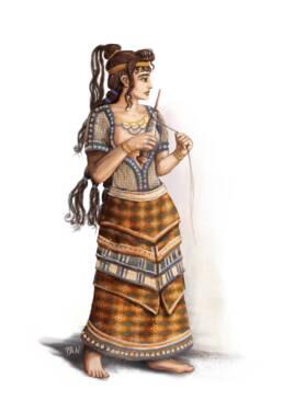 Signora Minoica Tessitrice