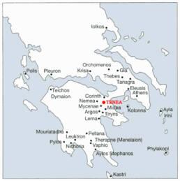 Siti principali Micenei in Grecia